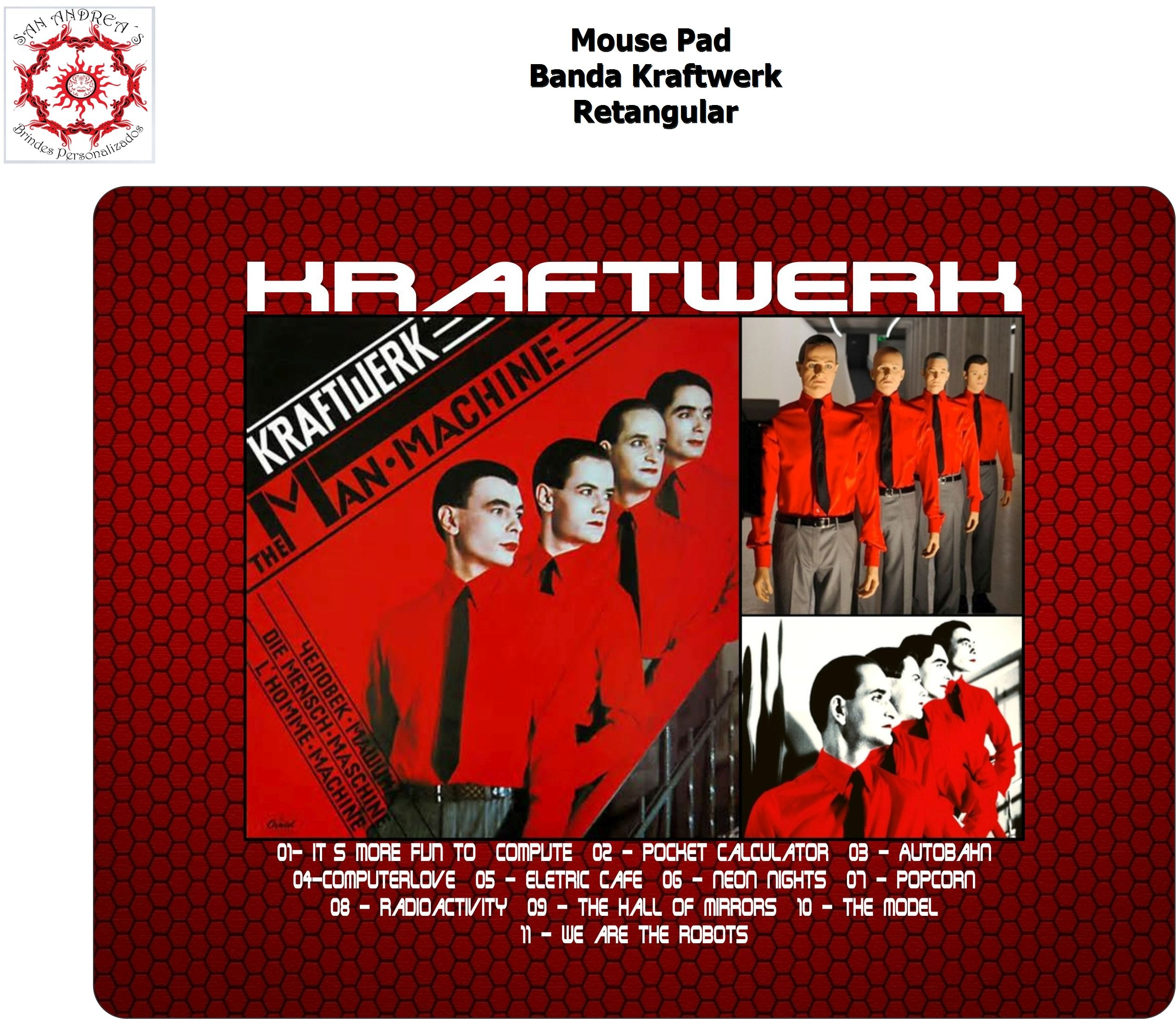 Retangle Mouse Pad - Kraftwer Band - Only US$15,00