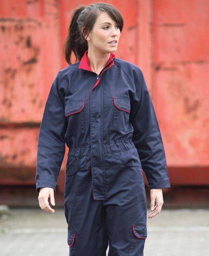 Image result for ladies in safety coveralls