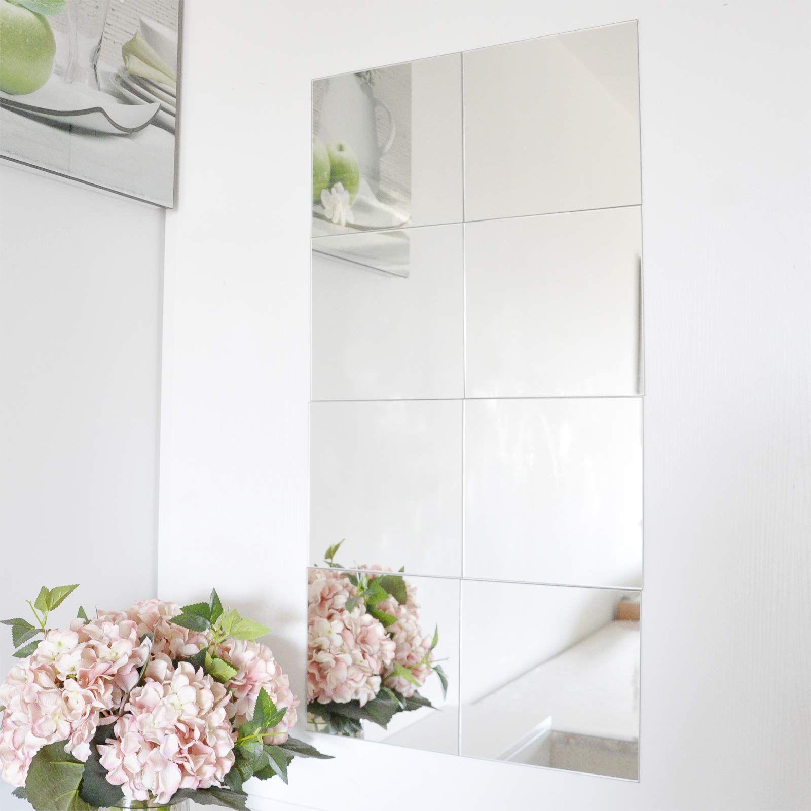 Muzilife Frameless Wall Mirror Set Dressing Mirror Tiles Self Adhesive 8 Pieces Combination Wall Mounted For Home In 2020 Wall Mirrors Set Dressing Mirror Mirror Wall