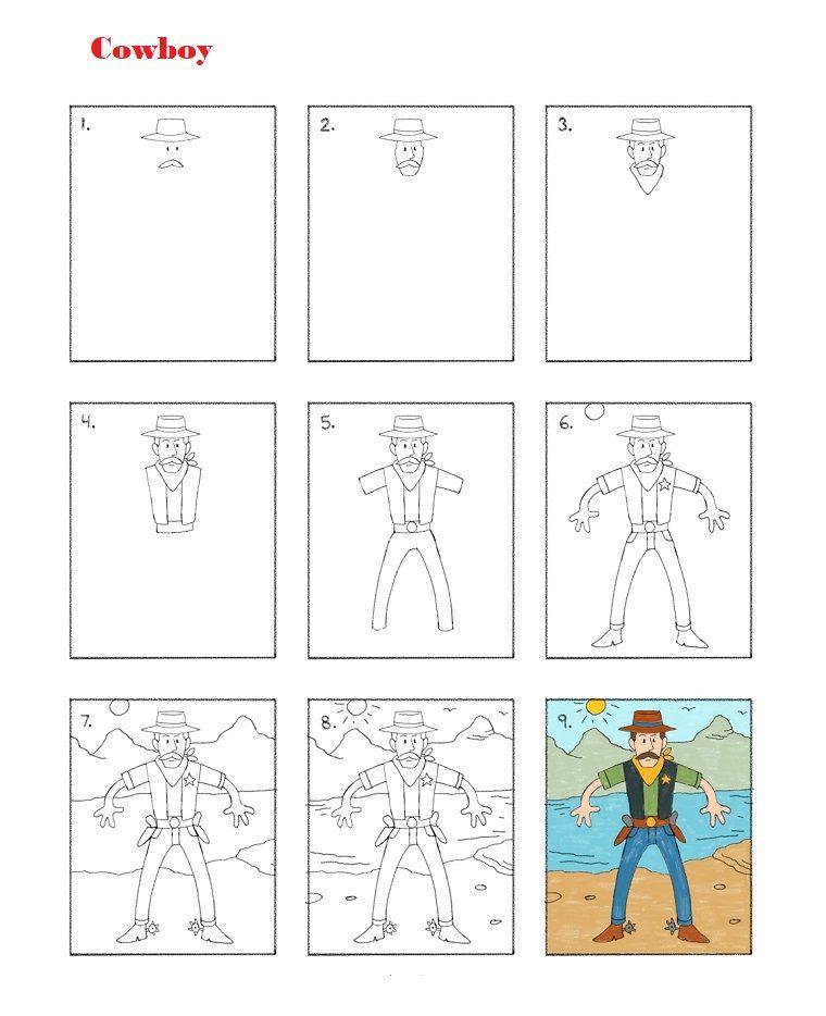 Come Disegnare Un Cowboy Tutorial Per Disegni Tumblr Facili
