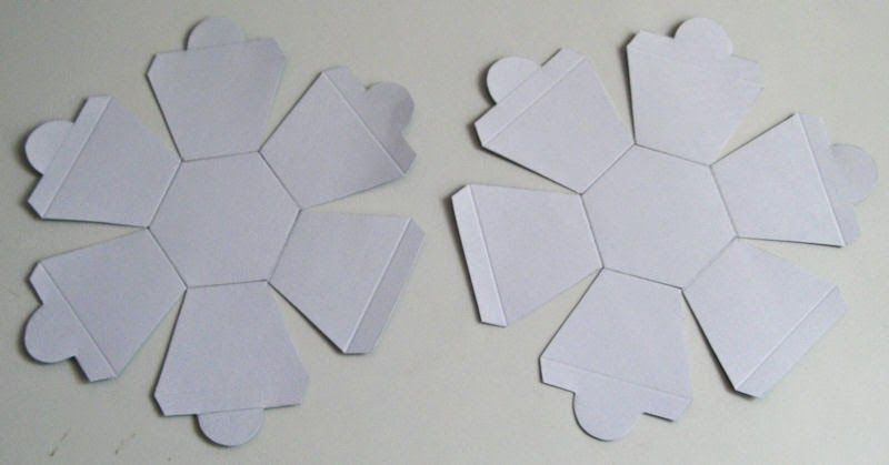 A Pop Up Hexagon Ball Paper Tree Exploding Box Card Box Template Paper Tree