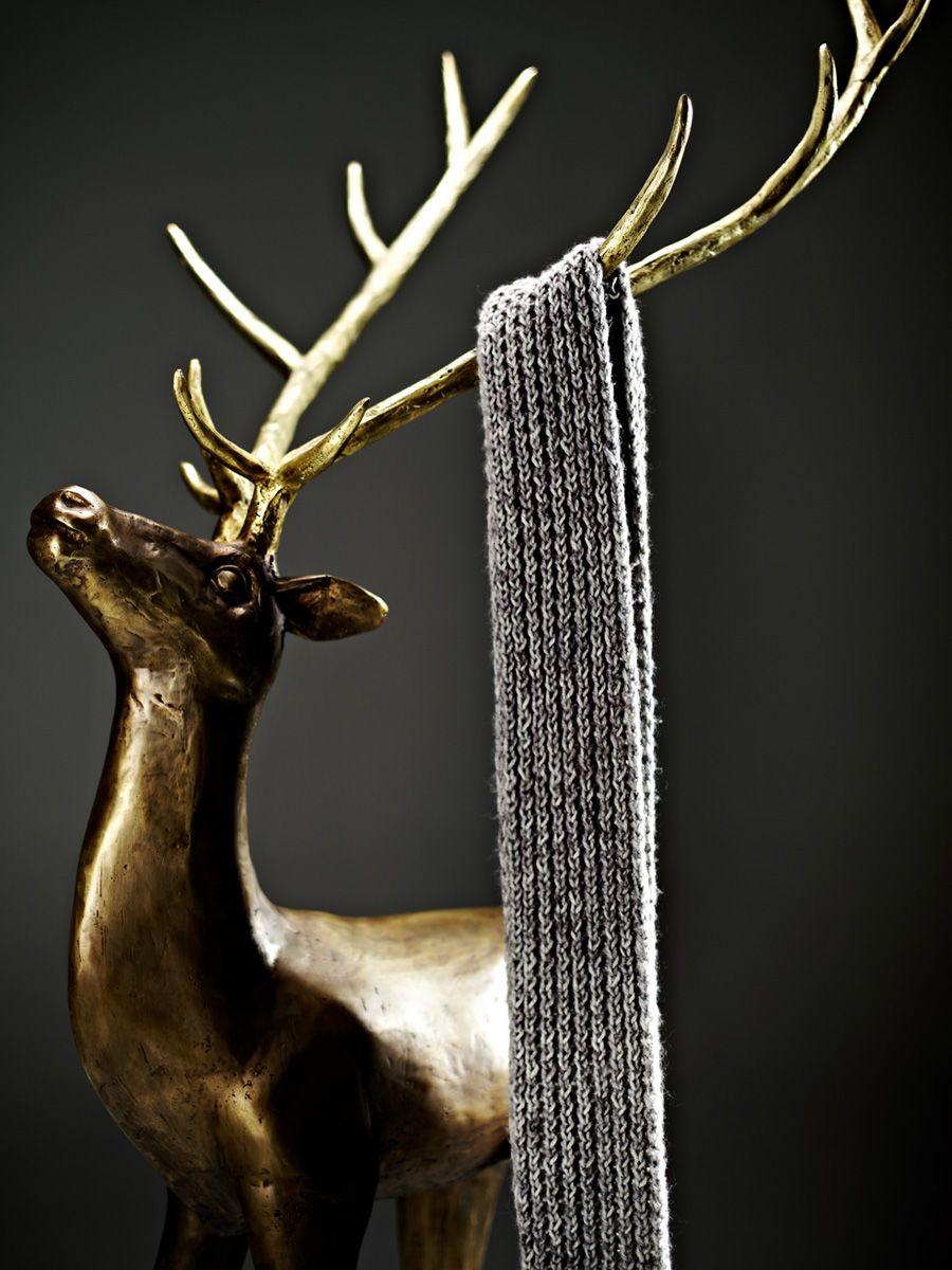 BAMBI, coat hanger. Cast brass in Silver Brass finish  arc-living.com