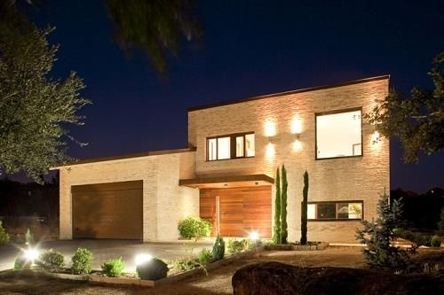 Iluminaci n exterior vivienda unifamiliar madrid for Iluminacion exterior jardin