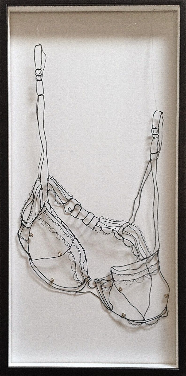 sculptural drawing by christina james nielsen