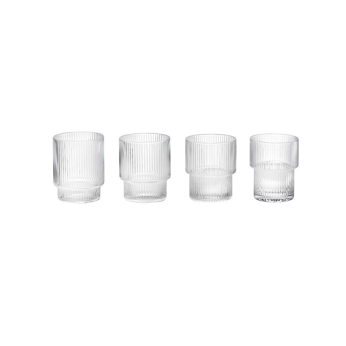 Ripple Glasses Set Of 4 Blown Glasses Glass Set Ferm Living