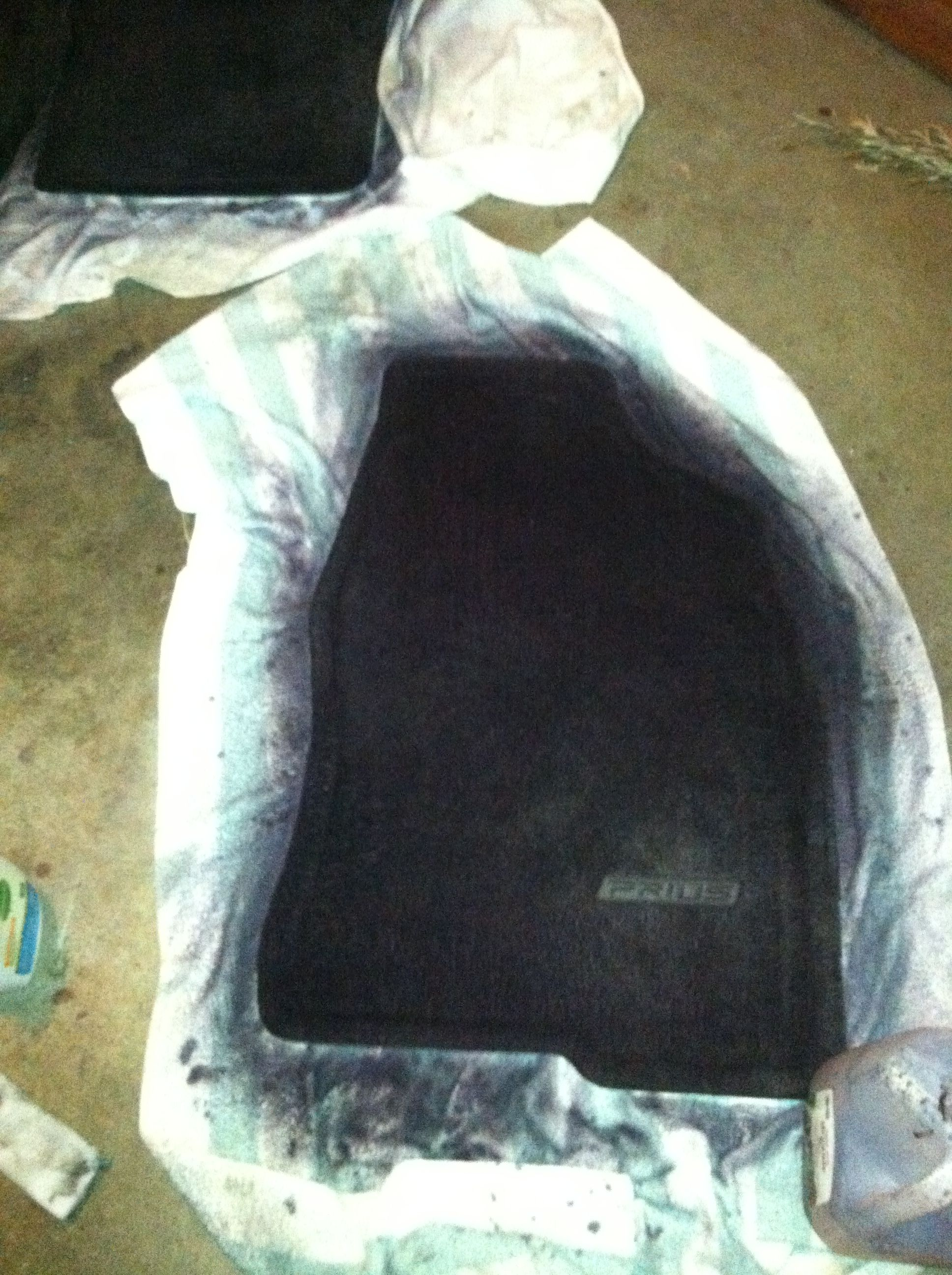 Dyed My Car Carpet With Rit Dye 1st Cleaned Them 2nd