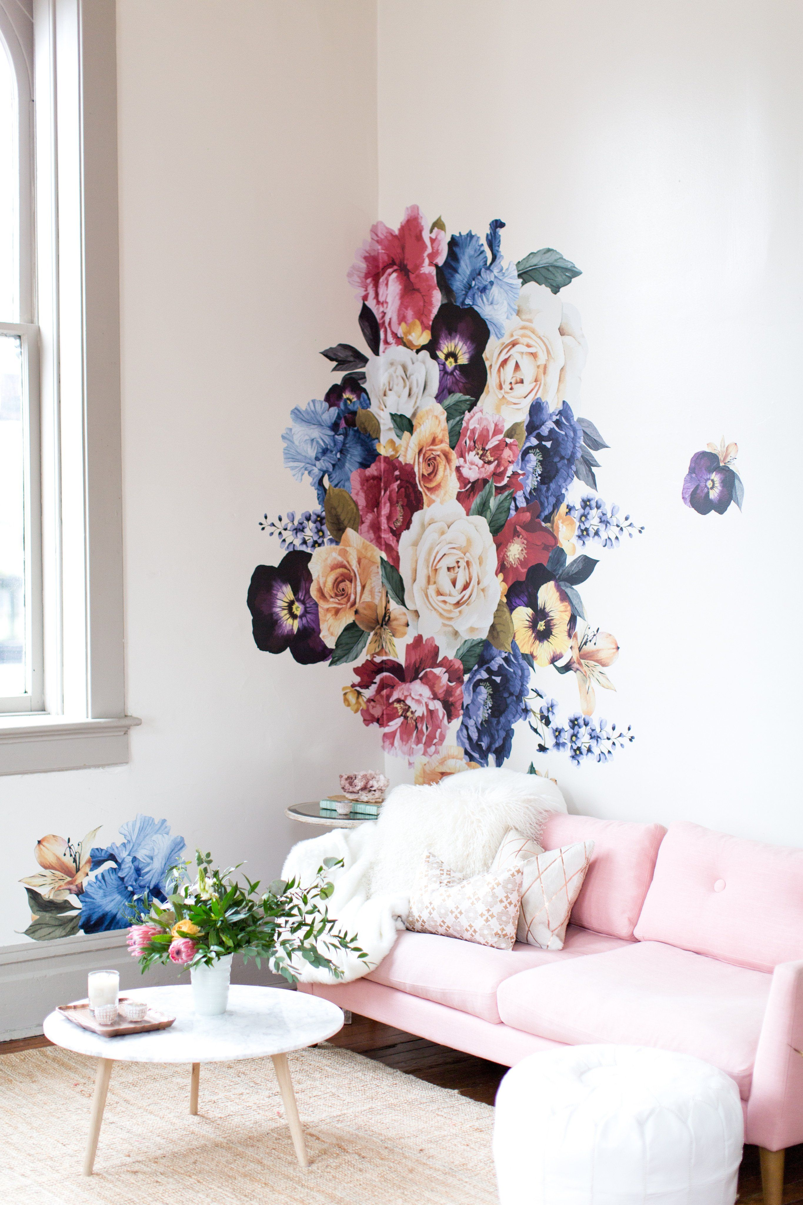 Vintage floral wall decals room floral wall art wall home decor