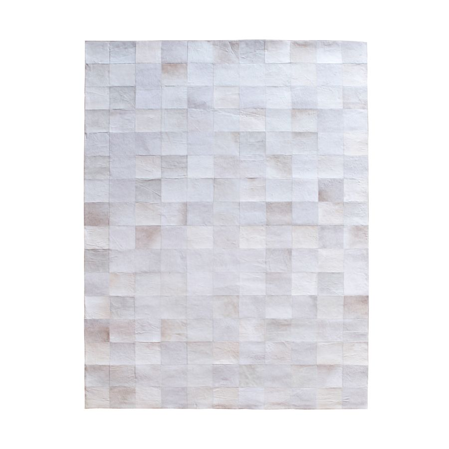 Patchwork Tapijt Amsterdam Carpet Patchwork Leather White By Boo Carpets
