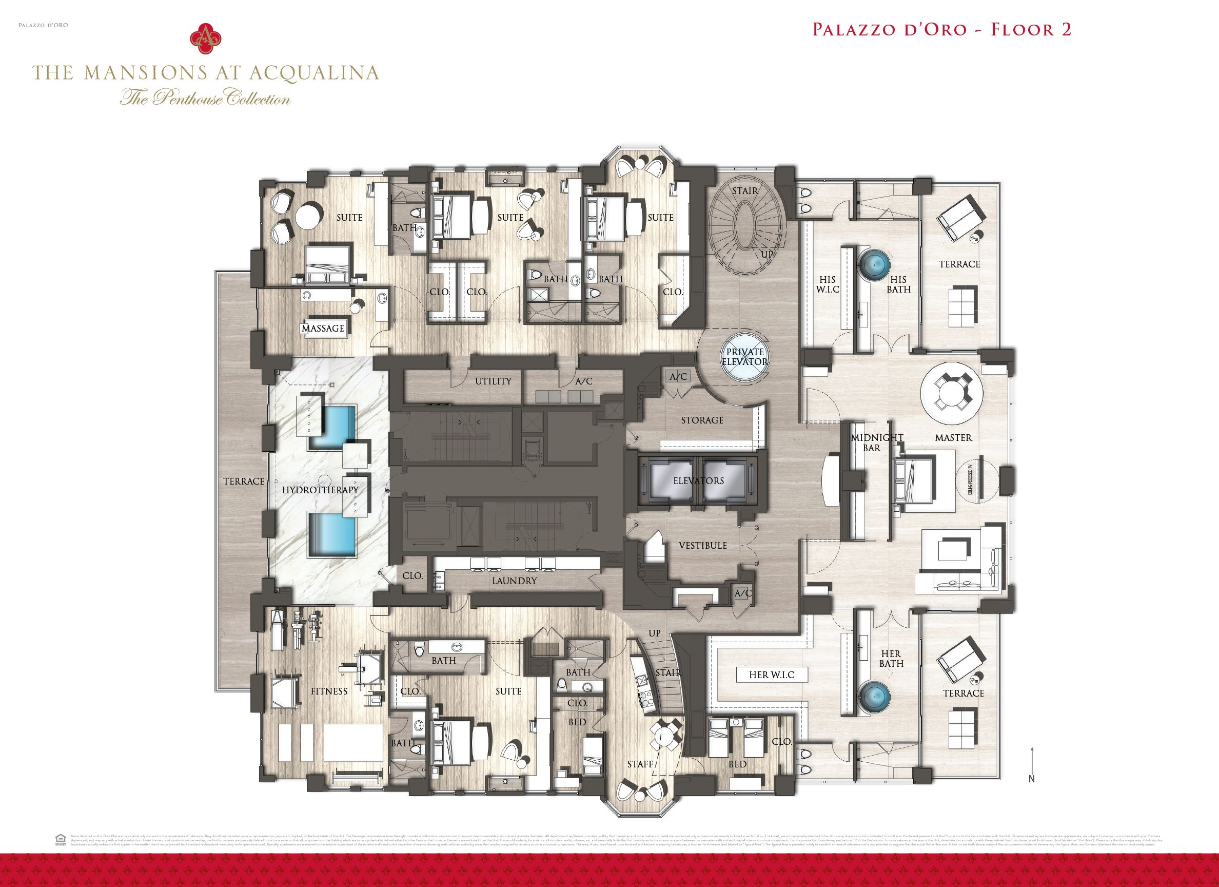 Mansions at acqualina penthouse hits the market for 55m penthouses mansion and apartments - Lay outs penthouse ...