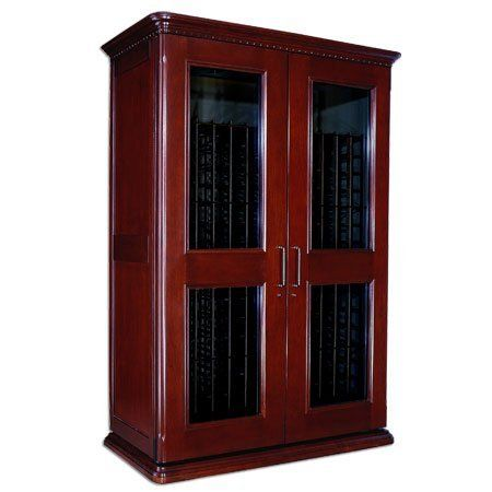Le Cache Euro 3800 Wine Cabinet Classic Cherry Finish By Le