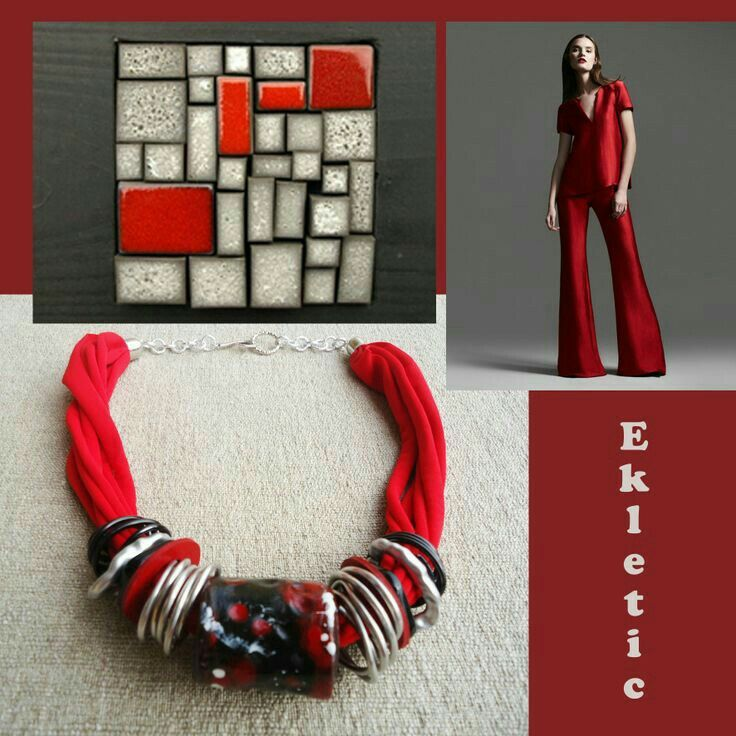 Rustic chic clay necklace - tubes collection