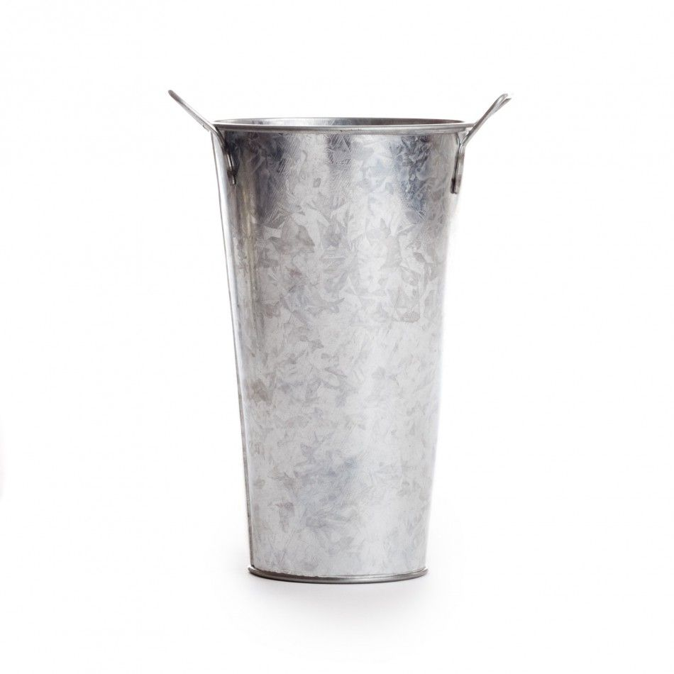 5.75 Galvanized French Floral Bucket [6552-56 Galvanized Bucket 5.75 ...