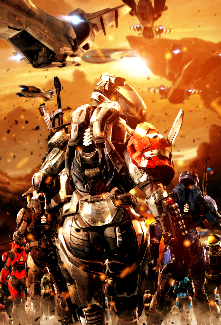 Reach's Last Stand by LordHayabusa357 Halo game, Halo