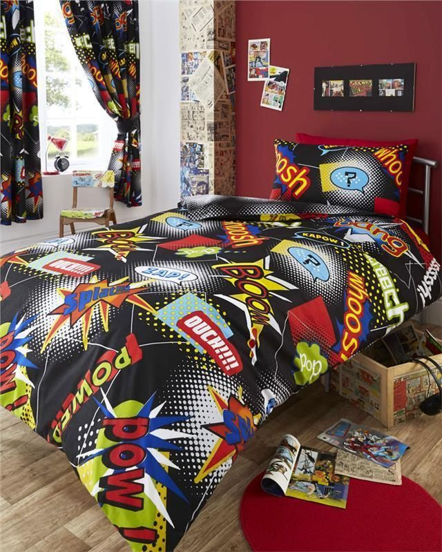 Kids Duvet Cover Sets And Or Curtains, Super Hero Bedding Double