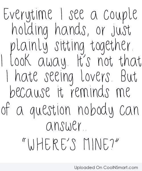 just one question of love