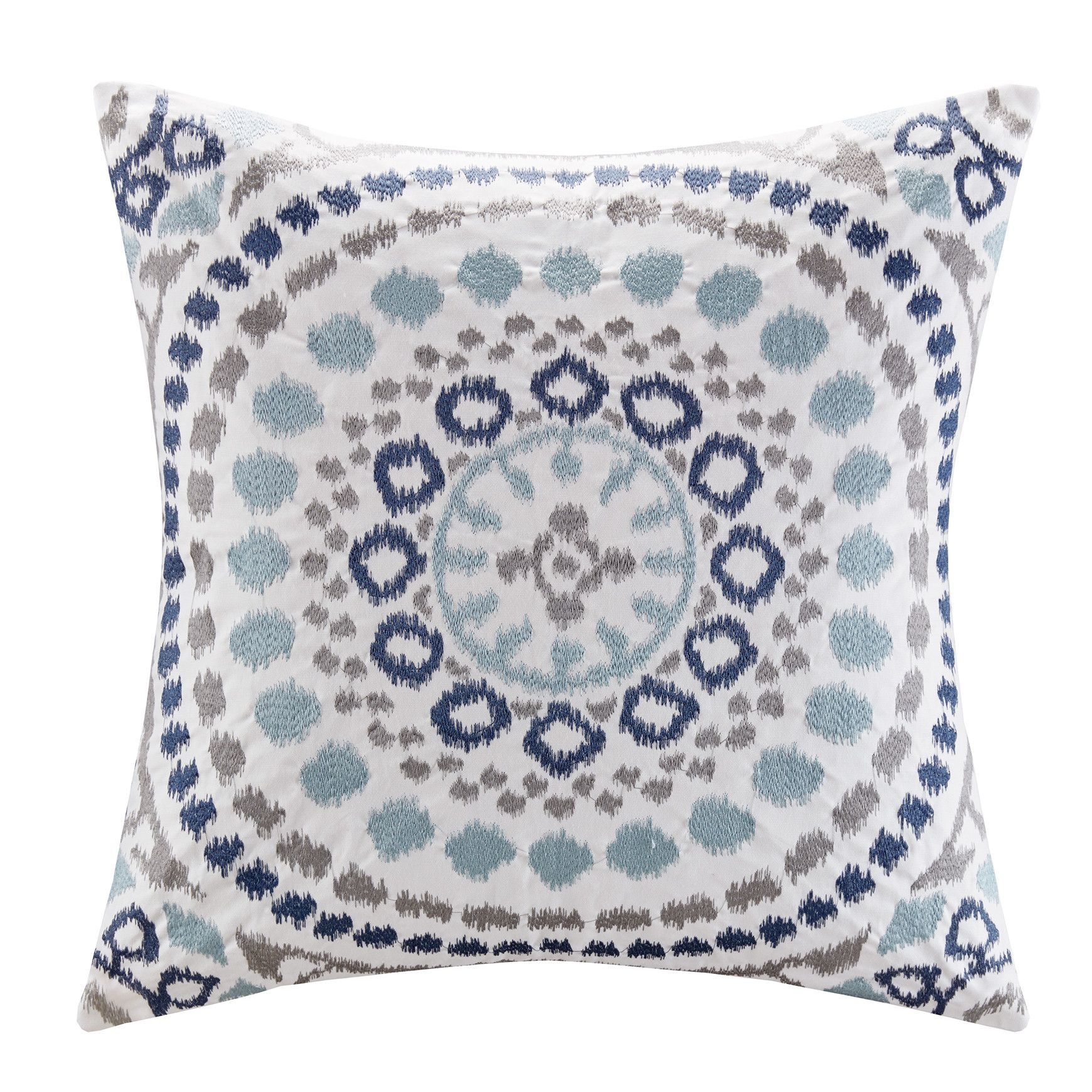 Grace Cotton Embroidered Throw Pillow