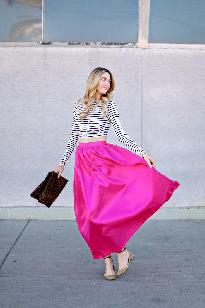 9c5dbff5e0 Pink Maxi Skirt, Maxi, Maxi Skirt, Fuchsia, Fuchsia Maxi, Fuchsia Skirt,  Catbird Rings, Kate Spade Watch, Kate Spade Seaport, Kendra Scott, .