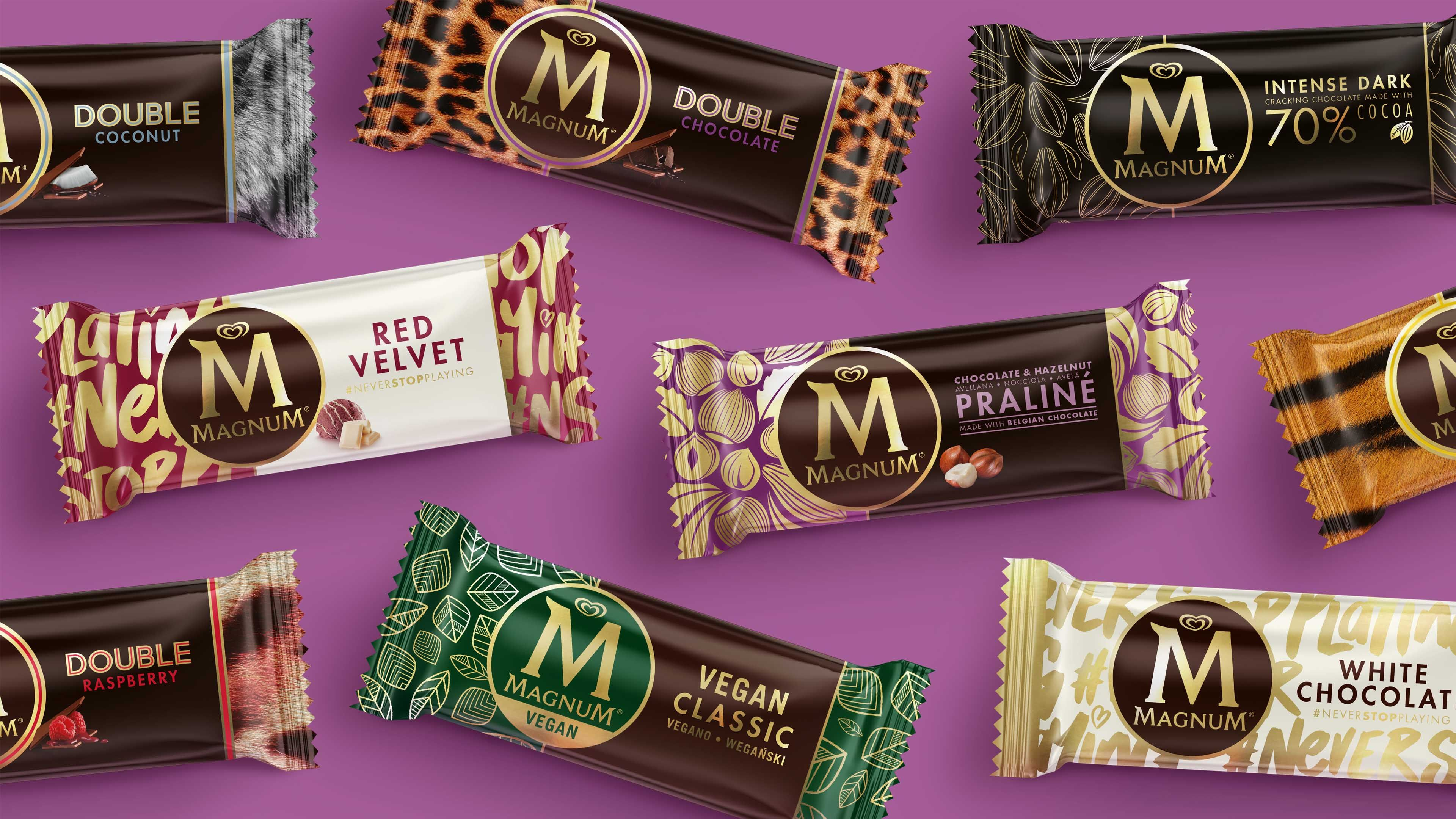Magnum chocolate branding and packaging design by Sunhouse