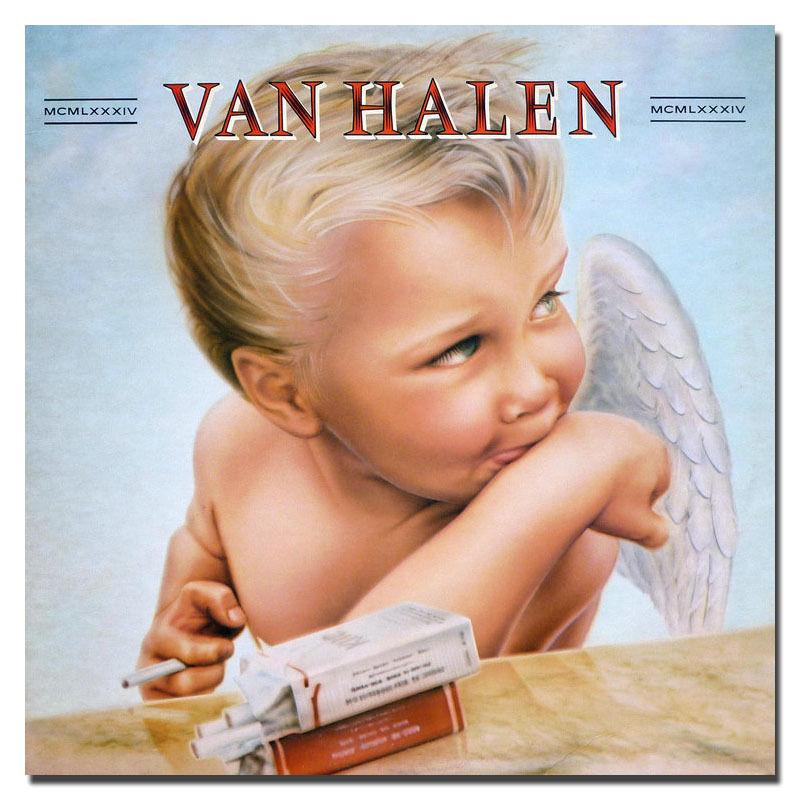 1984 Van Halen Hard Rock Band Album Cover Silk Poster 13x13 24x24 inch