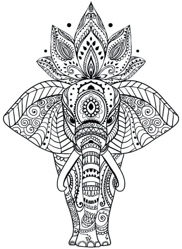 Coloriage Mandalas Coloring In 2020 Elephant Coloring Page Mandala Coloring Pages Mandala Coloring
