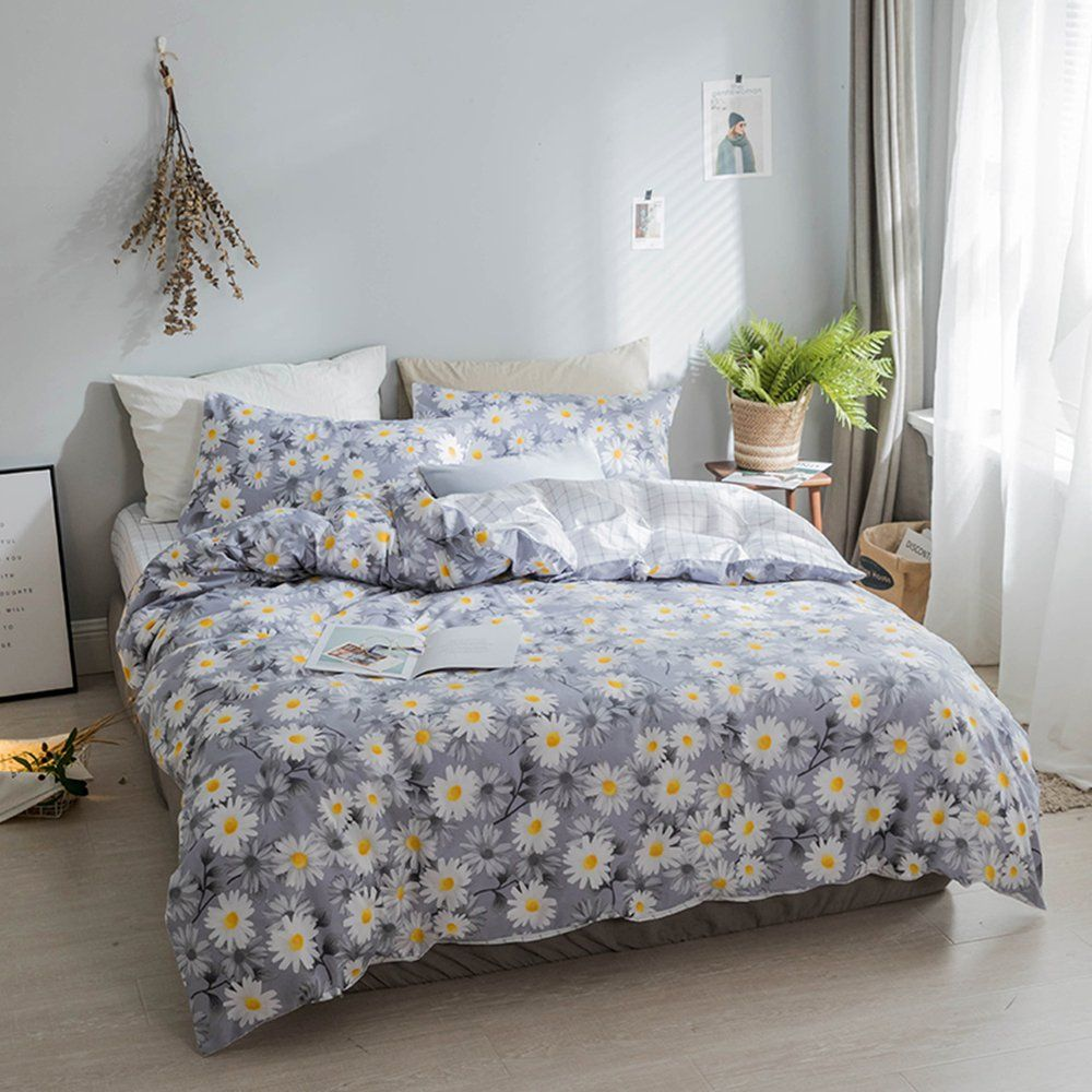 AMWAN Vintage Floral Girls Duvet Cover Set Full Queen