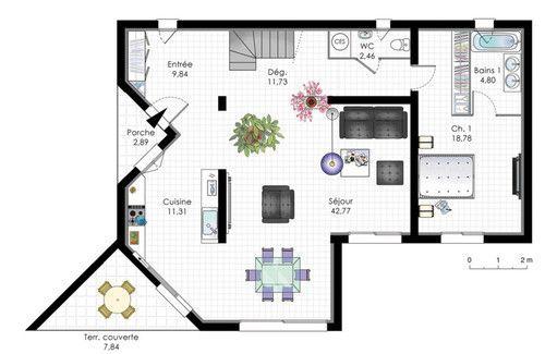Villa de plain-pied 1 Plain pied, Plans et Pieds