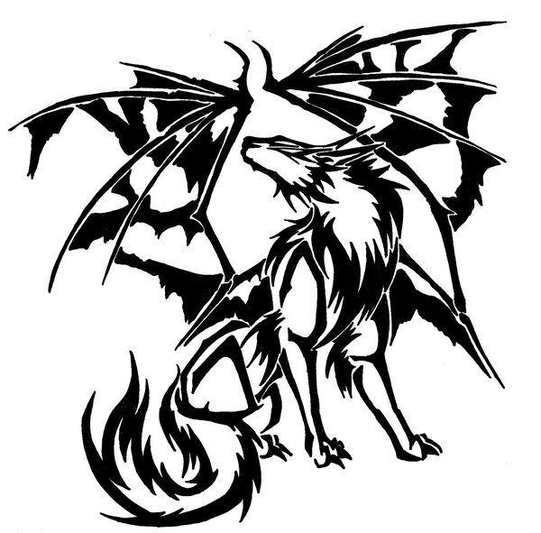 Tribal Demon Wolf - Great tattoos | My stuff | Pinterest ...