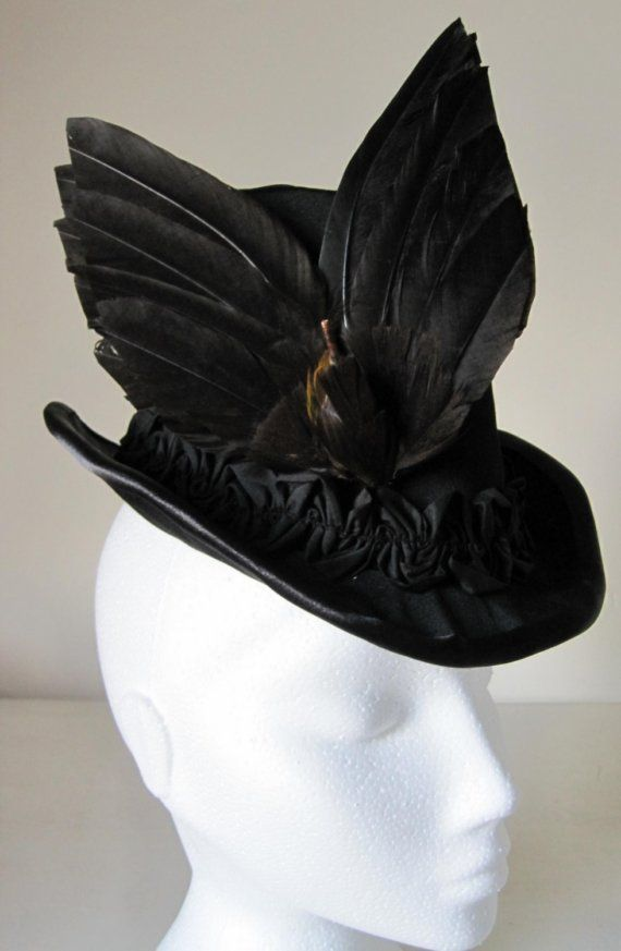 SALE Ladies Victorian Silk Top Hat c 1880s SALE by Nehelenia  9fb4a58fc5c