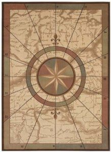 Amazon Com Shaw Sea Venture Area Rug 5 Feet 3 Inch By 7 Feet 7 Inch Beige Nautical Rug Nautical Rugs World Map Rug Area Rugs