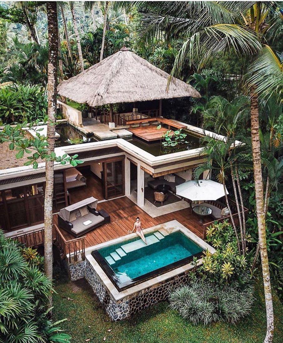 Pinterest Jungle Buildings: Four Seasons, Ubud Bali. Credit @michutravel