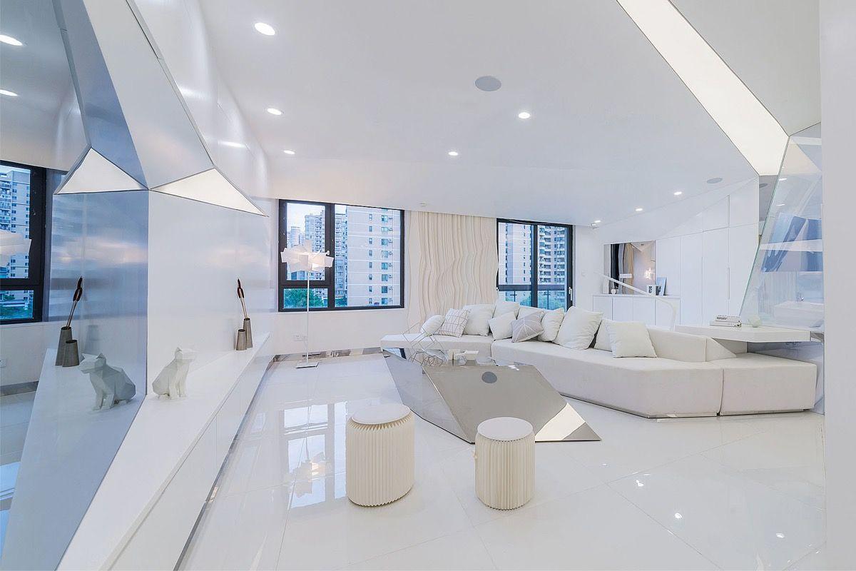 Cool Futuristic Style Home Interiors Interior Futuristic Home