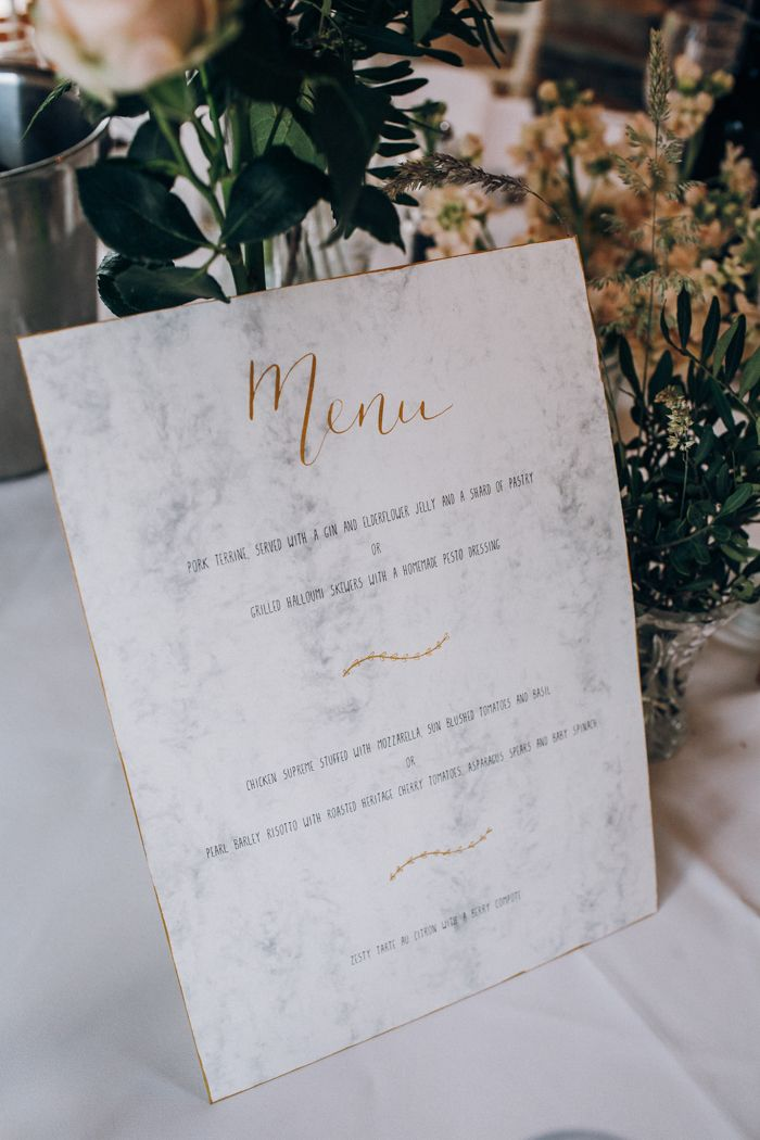 Sweet And Sparkly Leicestershire Wedding At The Old Stables Junebug Weddings Marble Wedding Wedding Branding Elegant Wedding Inspiration