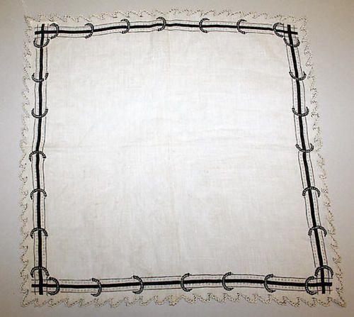 Mourning Handkerchief  1880, Collection Metropolitan Museum of Art