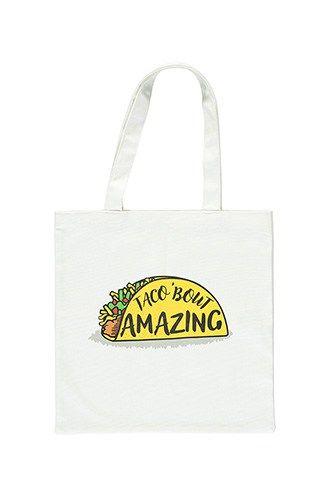 Taco Graphic Tote Bag  b3b103414ad09