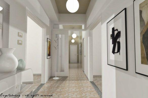 Illuminazione Corridoio Lungo E Stretto : La spiegazione del progetto di relooking per un corridoio lungo e