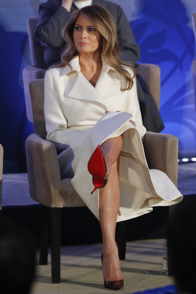 Melania Trump Makes Rare Public Speech In a Pair of Christian Louboutins