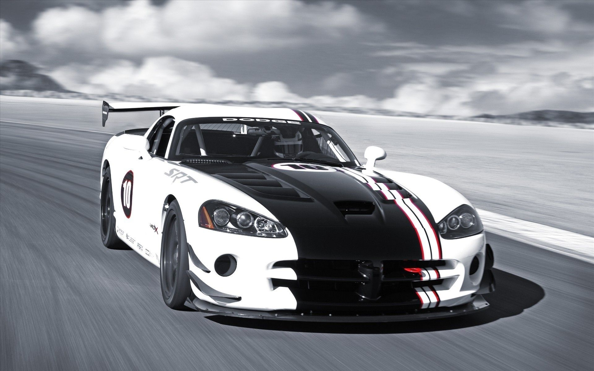 Download Wallpaper Black And White Car Dodge Viper, Photo Wallpaper    1920x1200