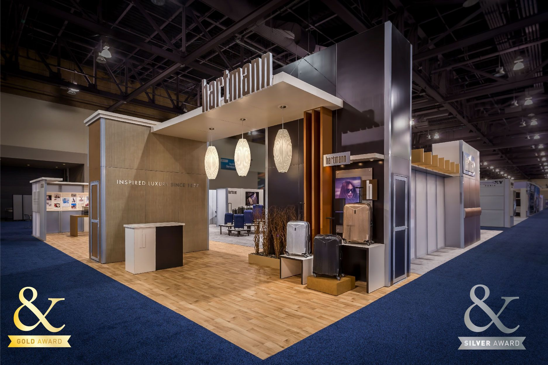 Exhibition Booth Design Award : Award winning hartmann booth branded environments