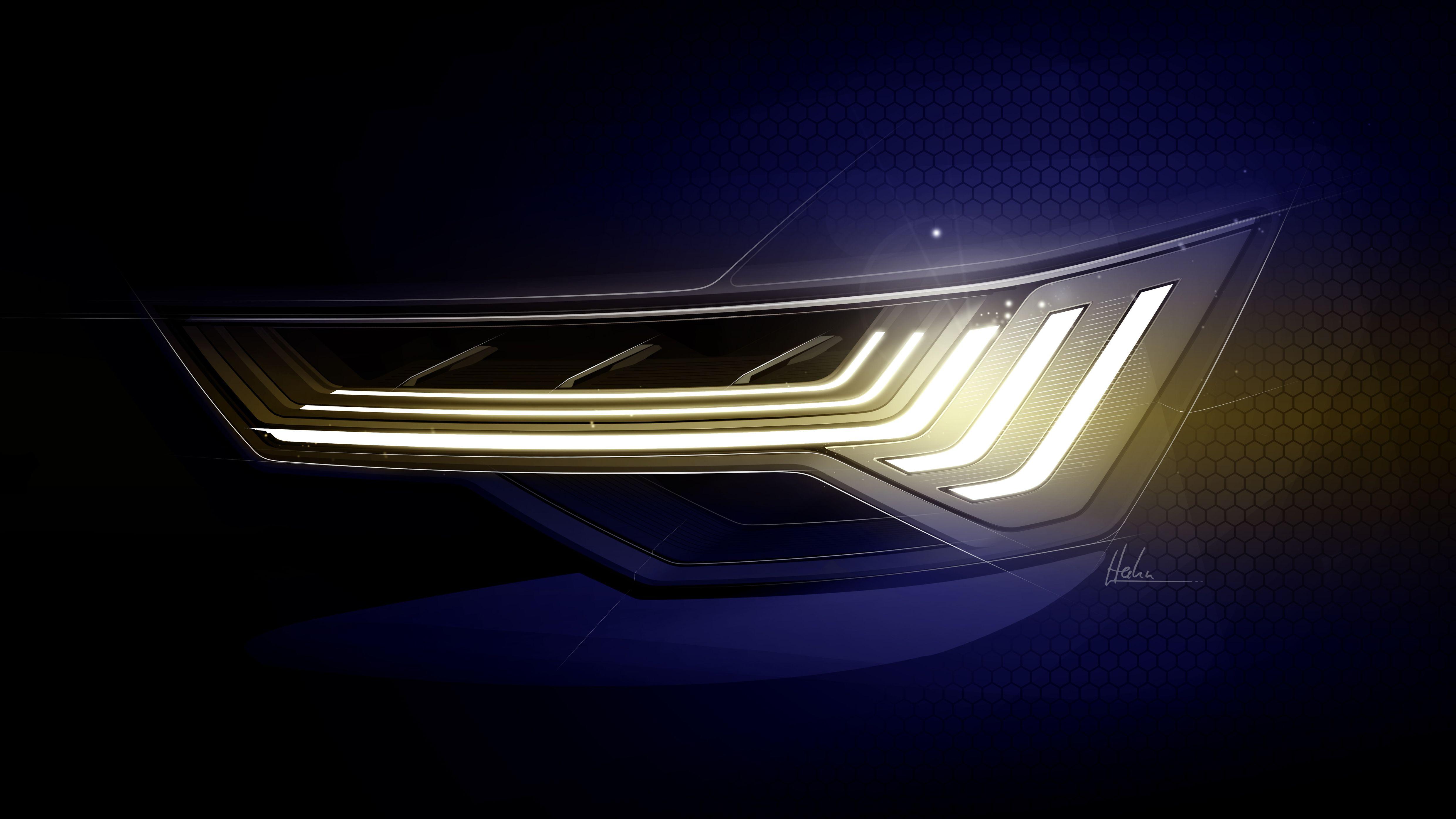 Audi A6 Light Design Sketch Headlamp Audi A6 Audi Design