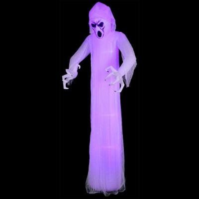 12 ft LightShow Inflatable Short CircuitFrightened GhostGiant Black - outdoor inflatable halloween decorations