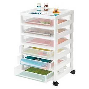 IRIS 6 Drawer Scrapbook Cart with Organizer Top  Target Lego storage?  sc 1 st  Pinterest & IRIS 6 Drawer Scrapbook Cart with Organizer Top : Target Lego ...