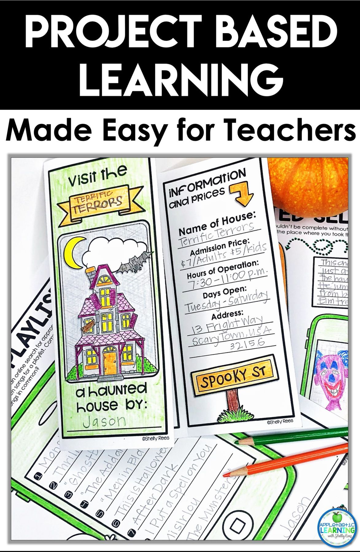 Project Based Learning Made Easy Appletastic Learning Project Based Learning Teaching Printables Halloween Teaching [ 1800 x 1173 Pixel ]