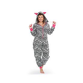 Arctic Trail™ Women's Plush Onesies with Hood and Ears at Big Lots.
