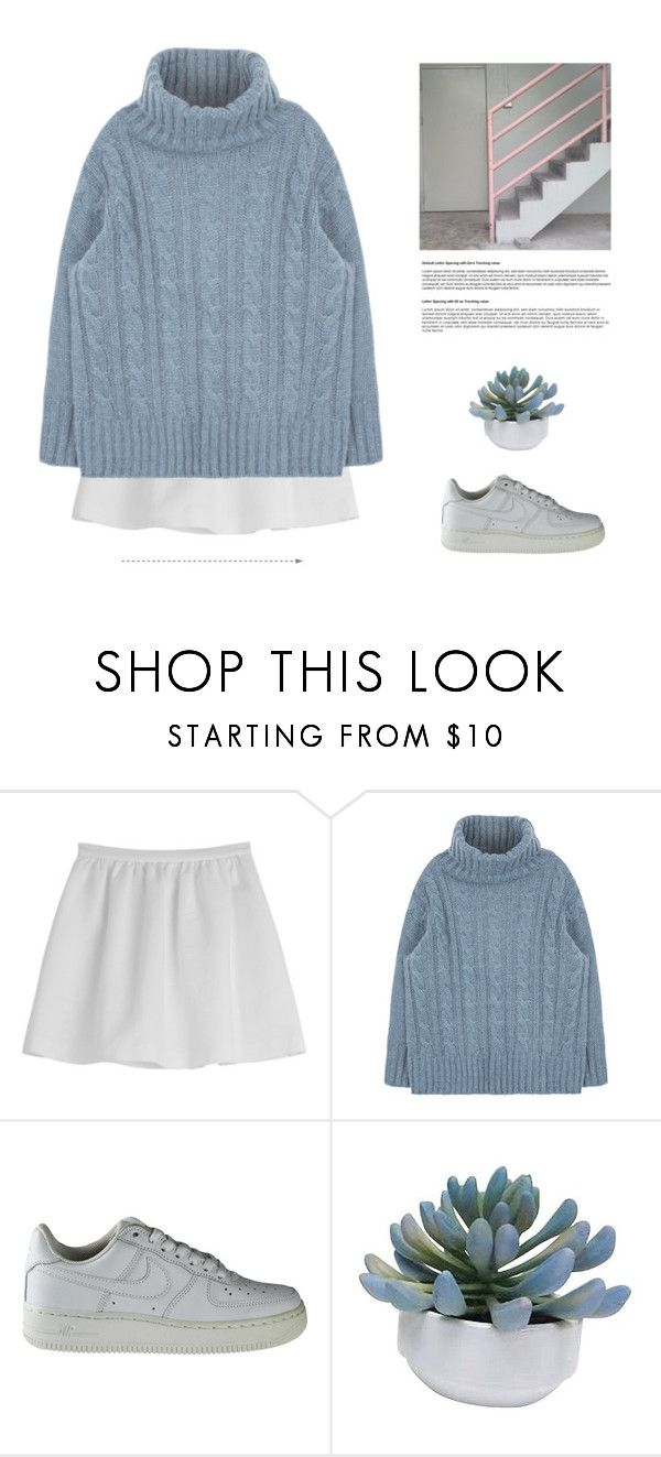"""""""one"""" by leejnki ❤ liked on Polyvore featuring Tara Jarmon, NIKE and Threshold"""