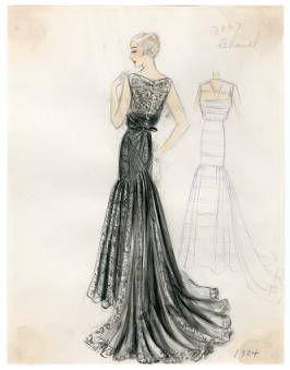 Bergdorf Goodman Sketches Chanel 1930 1939 Costume Institute