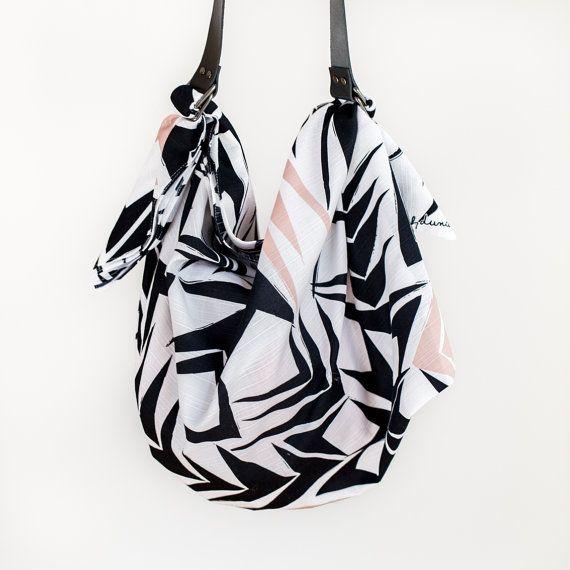 bag Angles leather black Furoshiki set amp; Sac strap carry furoshiki RqqgrfAZw5