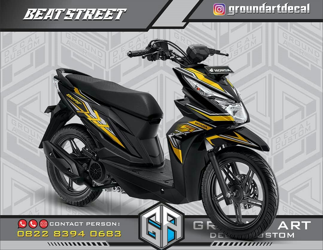 Decal Honda Beat Street Desain Decal Motor Desain