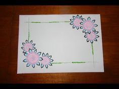 Diy simple easy  decorative border design for project file also best images in backgrounds rh uk pinterest