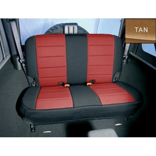 Amazon.com: Rugged Ridge 13262.04 Black/Tan Custom Neoprene Rear Seat Cover: Automotive