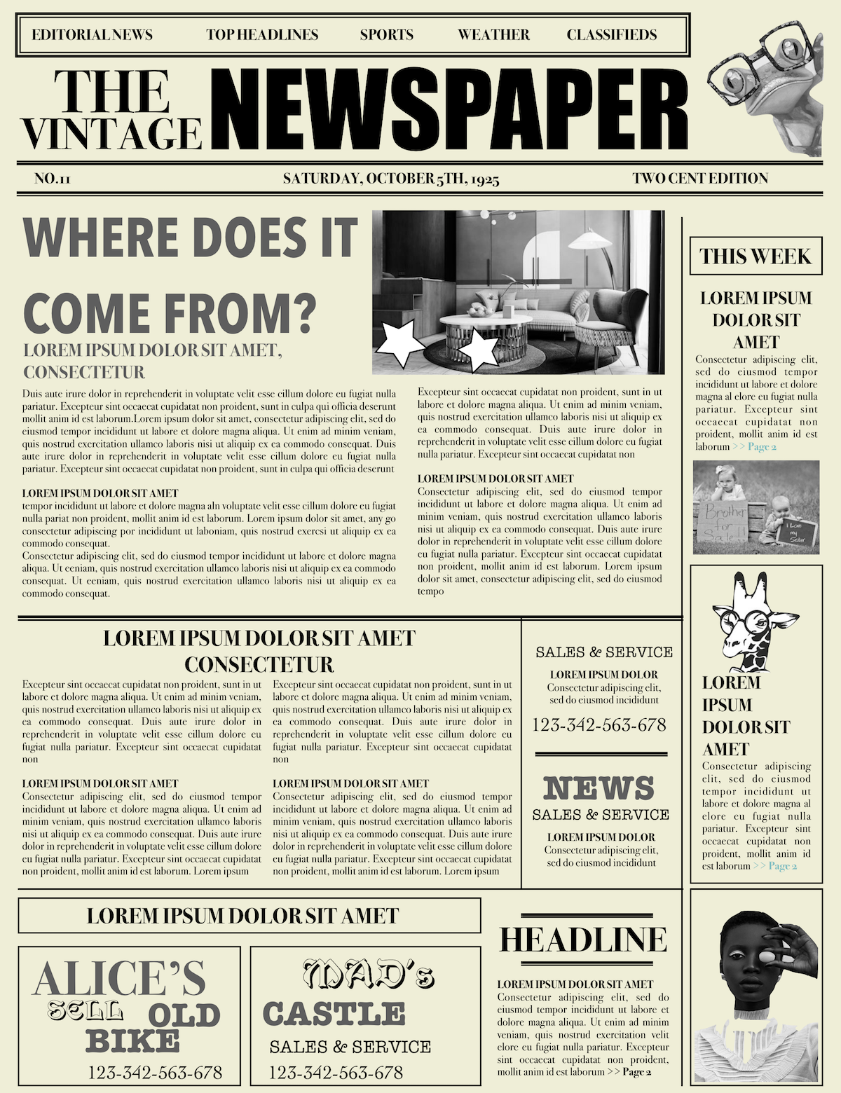 newspaper layout newspaper format newspaper generator free